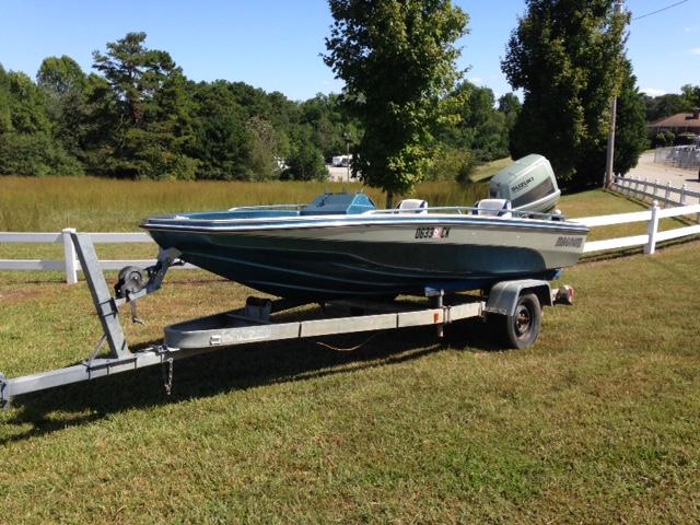 1987 Magnum 15′ Bass Boat 115 HP Suzuki Outboard